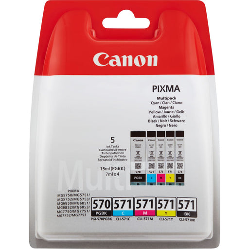 Canon PGI-570 & CLI-571 Printer Ink Cartridges BK & CMY