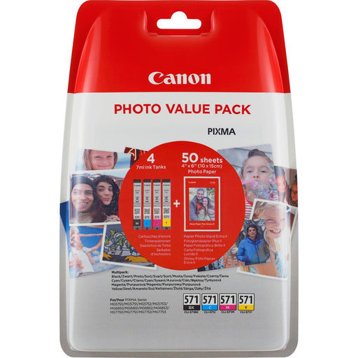 Canon CLI-571 Original Printer Ink Cartridges BK & CMY