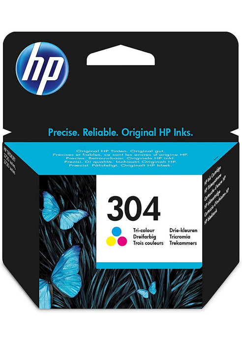HP 304 Standard Capacity Colour Original Ink Cartridge Page Yield 180 (N9K05AE)