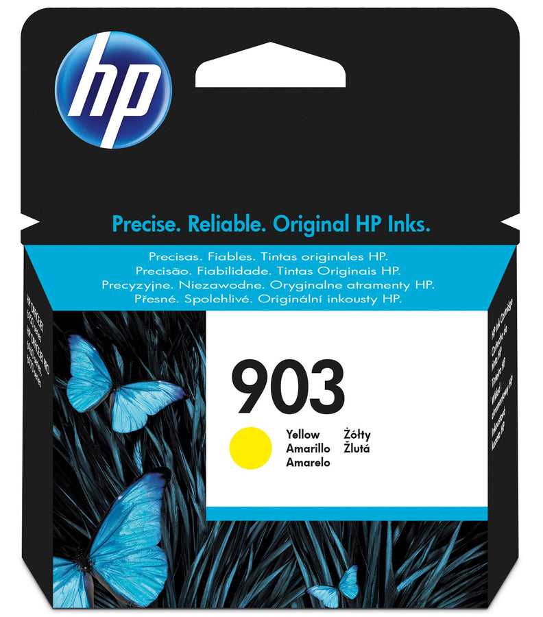 HP 903 Yellow Original Ink Cartridges Page Yield 315 (T6L95AE)