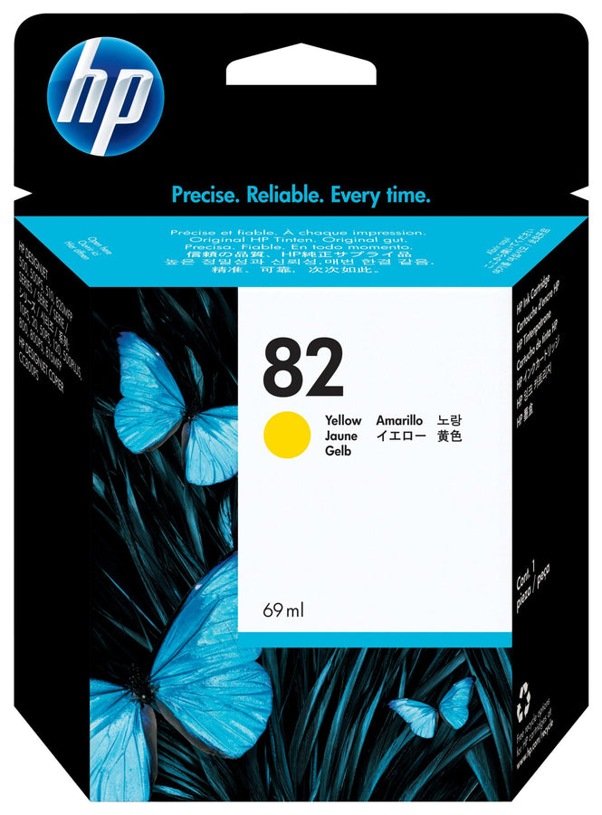 HP 82 69-ml Yellow DesignJet Ink Cartridge