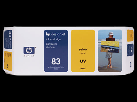 HP 83 680-ml Yellow DesignJet UV Ink Cartridge