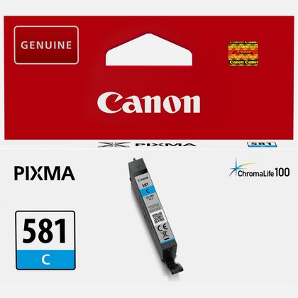 Canon CLI-581 Printer Ink Cartridge Cyan