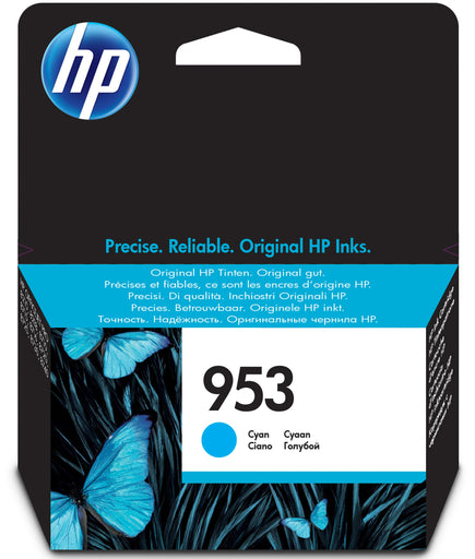HP 953 Standard Yield Original Cyan Ink Cartridge Page Yield 700 (P/N F6U12AE)