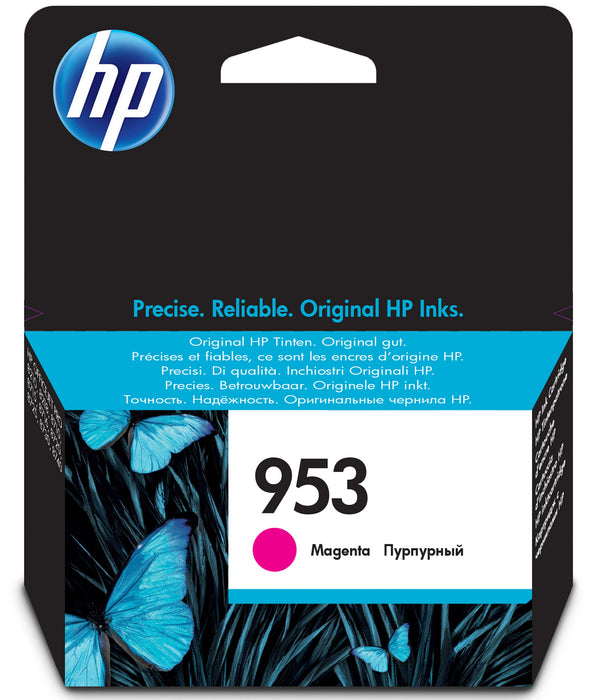 HP 953 Standard Yield Original Magenta Ink Cartridge Page Yield 700 (P/N F6U13AE)