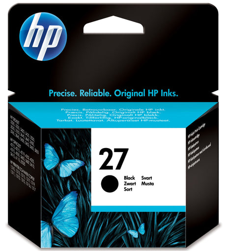 HP 27 Black Original Ink Cartridge Page Yield 280 (C8727AE)