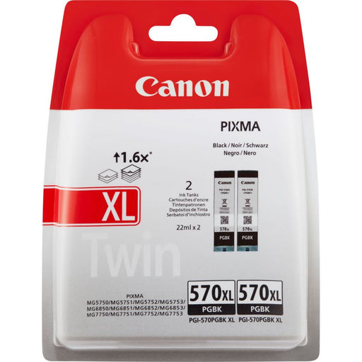 Canon PGI-570 XL Printer Ink Cartridges Twin