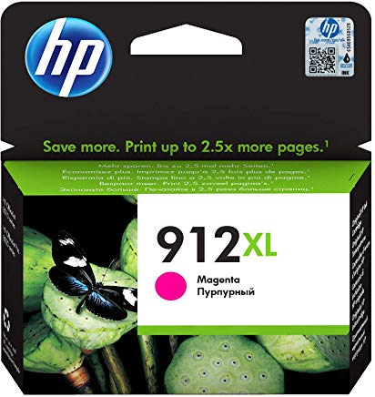 HP 912XL High Yield Magenta Original Ink Cartridge Page Yield 825 (3YL82AE)