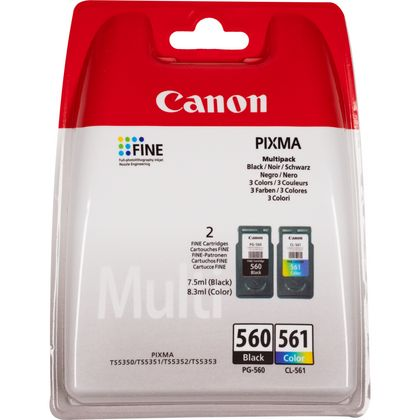 Canon PG-560 / CL-561 Ink Cartridge Combo Pack