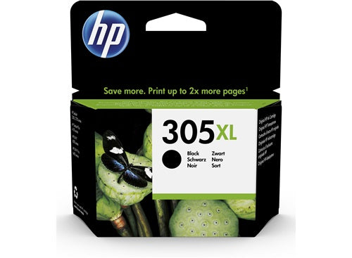 HP 305XL High Yield Black Original Ink Cartridge Page Yield 240 (P/N 3YM62AE)