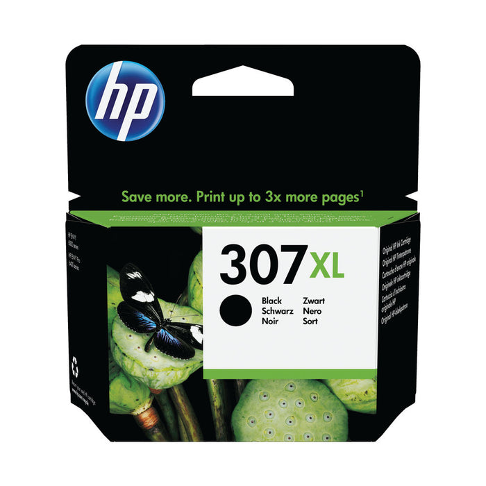 HP 307XL Extra High Yield Black Original Ink Cartridge Page Yield 400 (HP 305XXL) (P/N 3YM64AE)