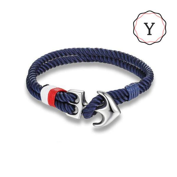 Bracelets Corde Style Marin Ancre Nautique - Nautical Rope