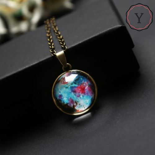 Collier Pendentif Univers Galaxie