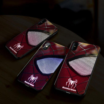 Coque Téléphone LED Spider-Man Iron Man & Venom - Iphone  XR XS X 8 7 Plus