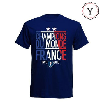 T-shirt Simple 2 Etoiles Equipe de France