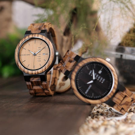 Montre En Bois Artisanales Faites A La Main - Bird Wood Watch