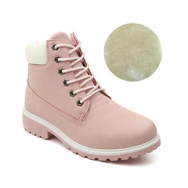 Boots Chaussures Montantes Style Timberland Femme Ankle Boots