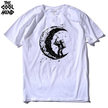 T-Shirt  We Go On The Moon 100% coton