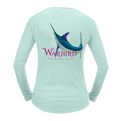Ladies OTP UV Shirt: Warbird Marlin - Seagrass