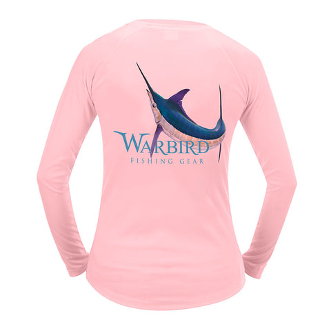 Ladies OTP UV Shirt: Warbird Marlin - Pink