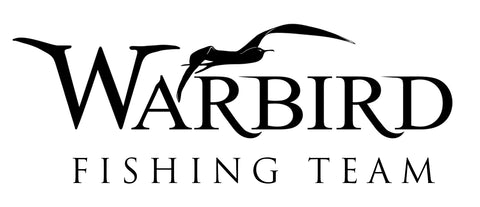 Warbird Fishing Team Vinyl Decal - Black