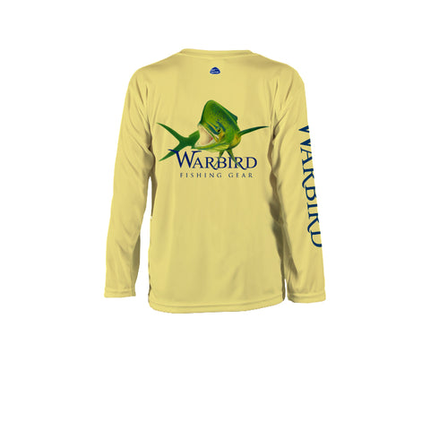 Youth OTP UV Shirt: Islamorada Slammer-Light Yellow