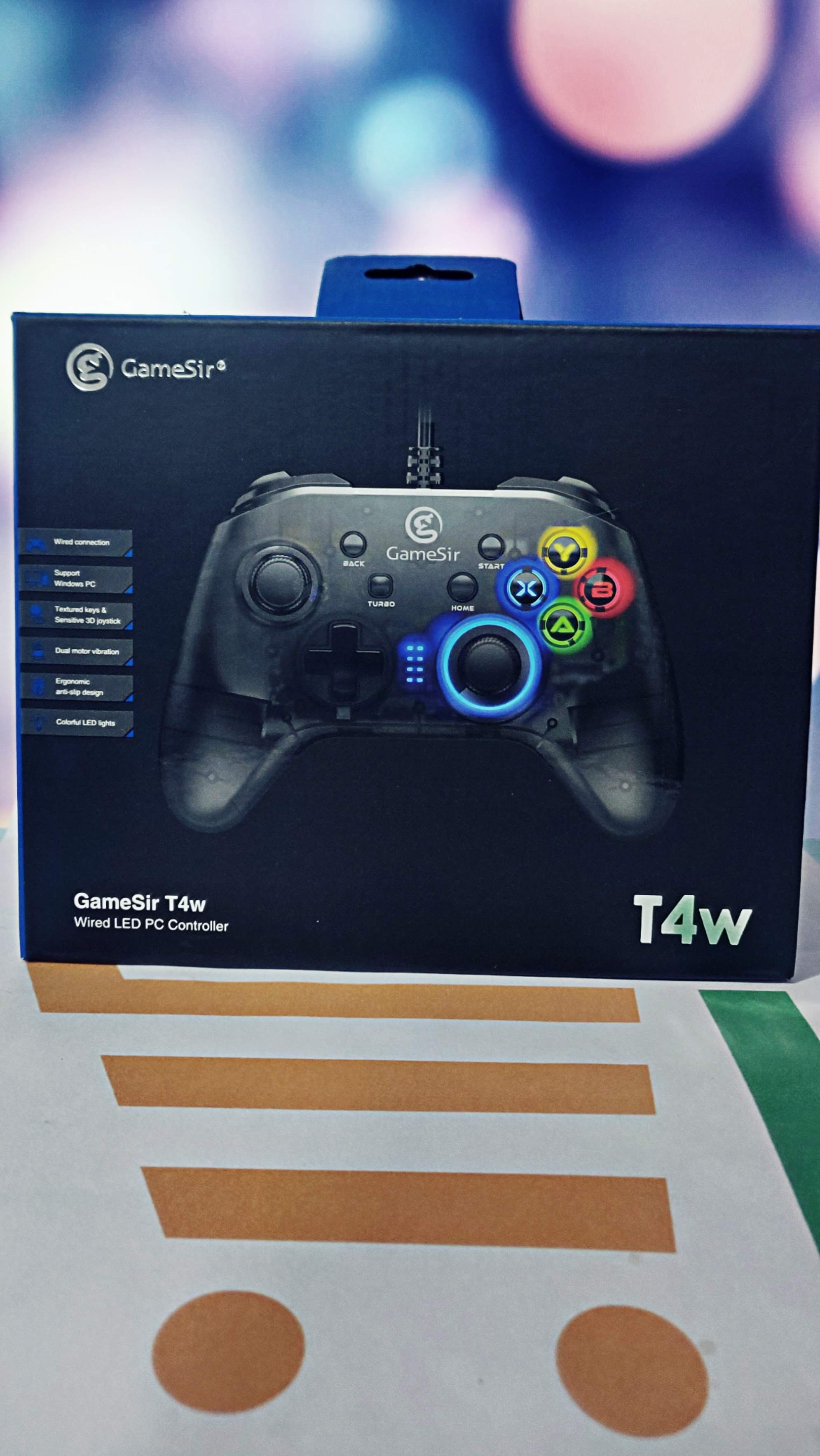 Gamesir t4w usb wired game controller gamepad with vibration and turbo function joystick for windows 7/8/10