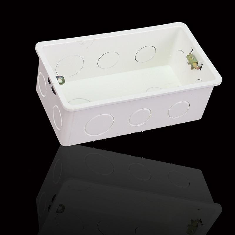 ASEER Wall Mounting Box Internal Cassette White Box 140*78*50mm use For 146*86*38mm Standard Touch Switch and Socket