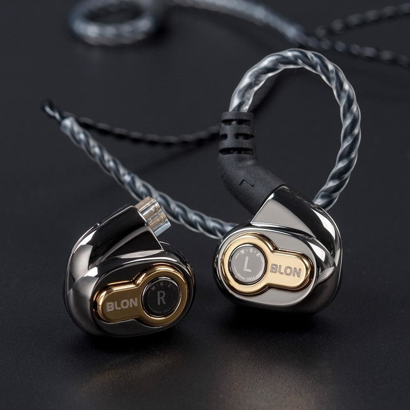 Blon BL-05 BL05 with 2nd generation 10mm Carbon Nanotube Diaphragm High Dynamic HIFI Earphone with 3.5mm gold plated L plug