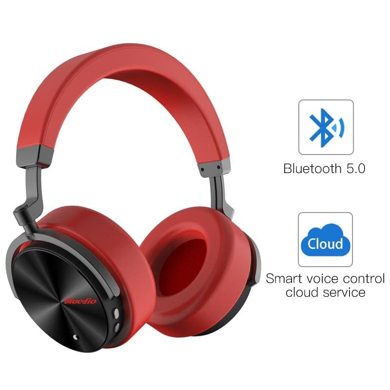 Bluedio t5 active noise cancelling wireless bluetooth headphones portable headset with microphone for phones and music - on sale