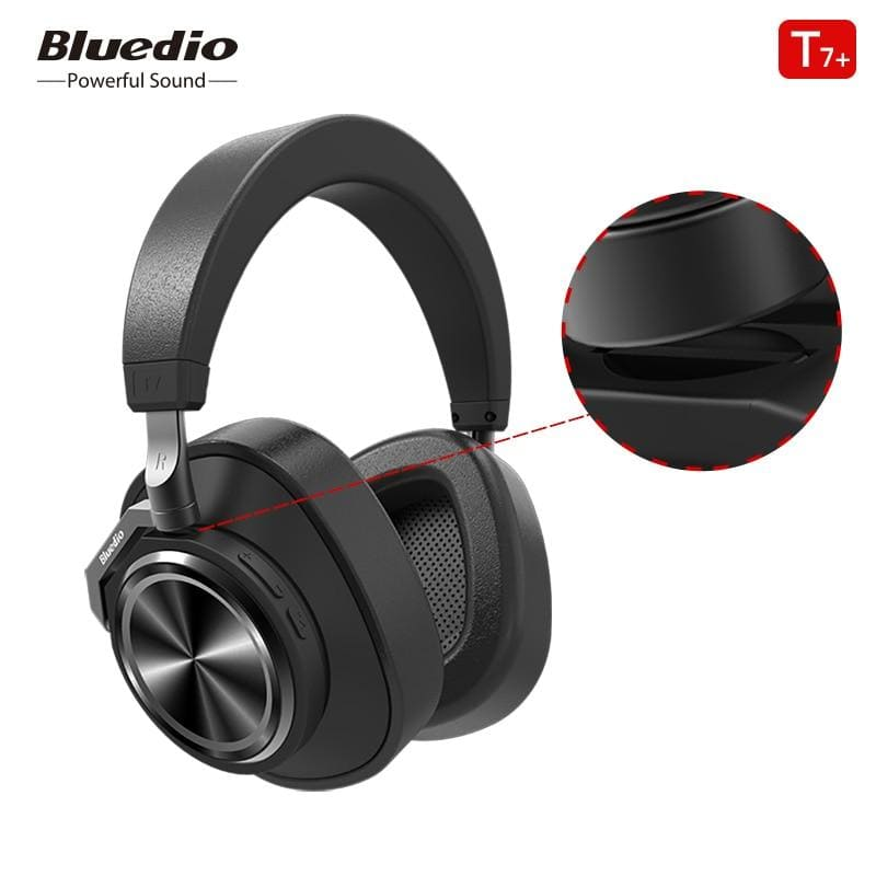 Bluedio t7 bluetooth headphones user-defined active noise cancelling wireless headset for phones and music with face recognition - on sale