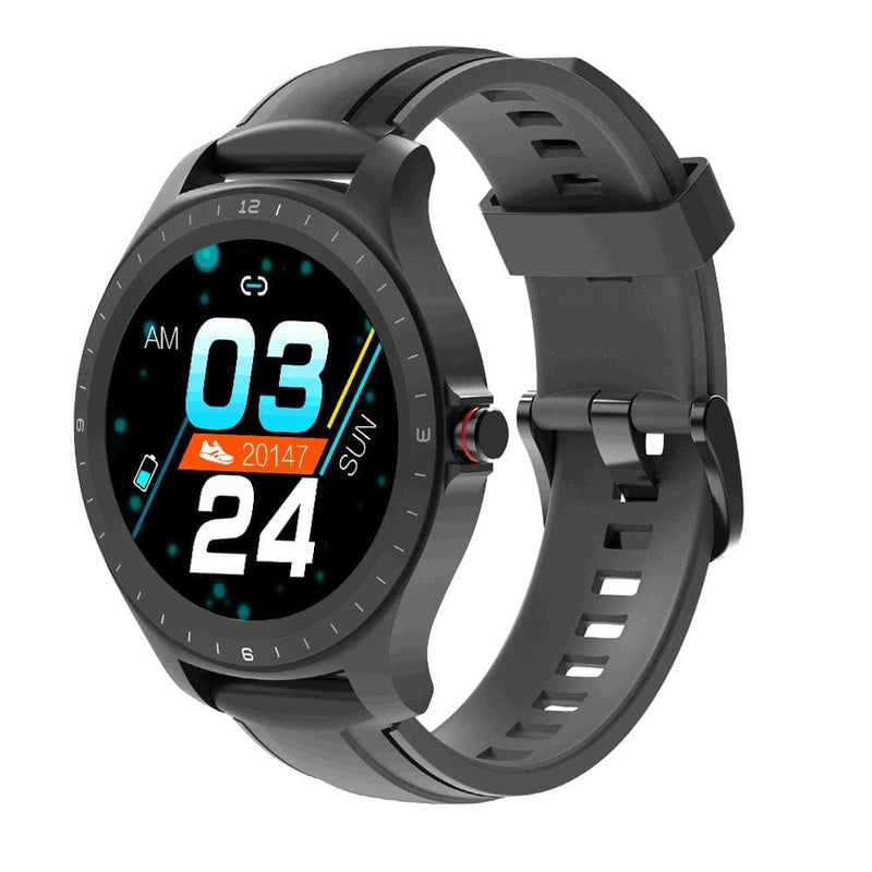 [ bluetooth 5.0 ] blitzwolf bw-hl2 smart watch 1.3' full round touch screen heart rate blood pressure o2 monitor ip68 smartwatch - on sale