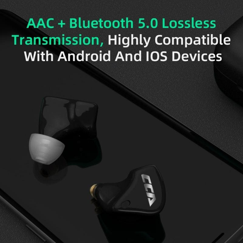 CCA CX10 1DD+4BA TWS Bluetooth 5.0 Touch Control Headset HIFI 10 Unit Hybrid Driver In-Ear Earphone
