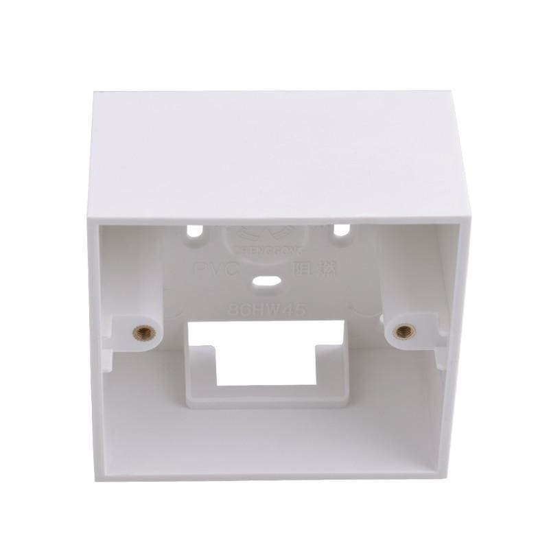 Coswall 42mm Deepen Thicken External Mounting Box 86mm*86mm*45mm for Wall Switches and Sockets Apply For Outside of Wall Surface