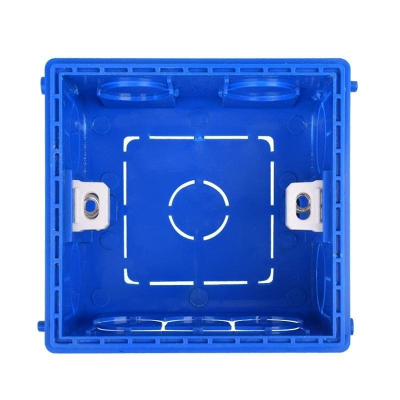 Coswall Adjustable Mounting Box Internal Cassette 86mm*85mm*50mm For 86 Type Switch and Socket White Red Blue Wiring Back Box