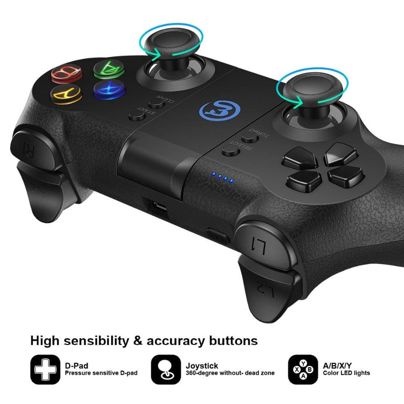 GameSir T1s Bluetooth 2.4G Wireless Gaming Controller Steam Gamepad Joystick for Android Phone/Windows PC/VR/PS3/TV Box