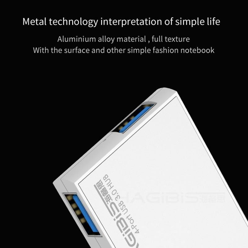 Hagibis 180 Degree Rotation USB 3.0 HUB Super Speed External 4 Port Usb Splitter Port for Macbook Air Laptop PC Computer Usb Hub