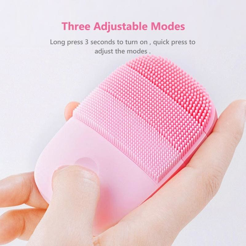 Inface official facial cleaning brush face skin care tools waterproof silicone electric sonic cleanser beauty massager - on sale