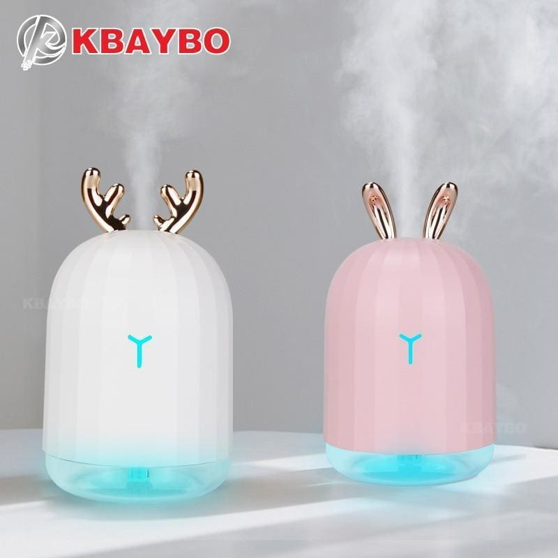 Kbaybo 220ml usb diffuser aroma essential oil humidifier ultrasonic diffuser 7 color change led night light cool mist for home - on sale