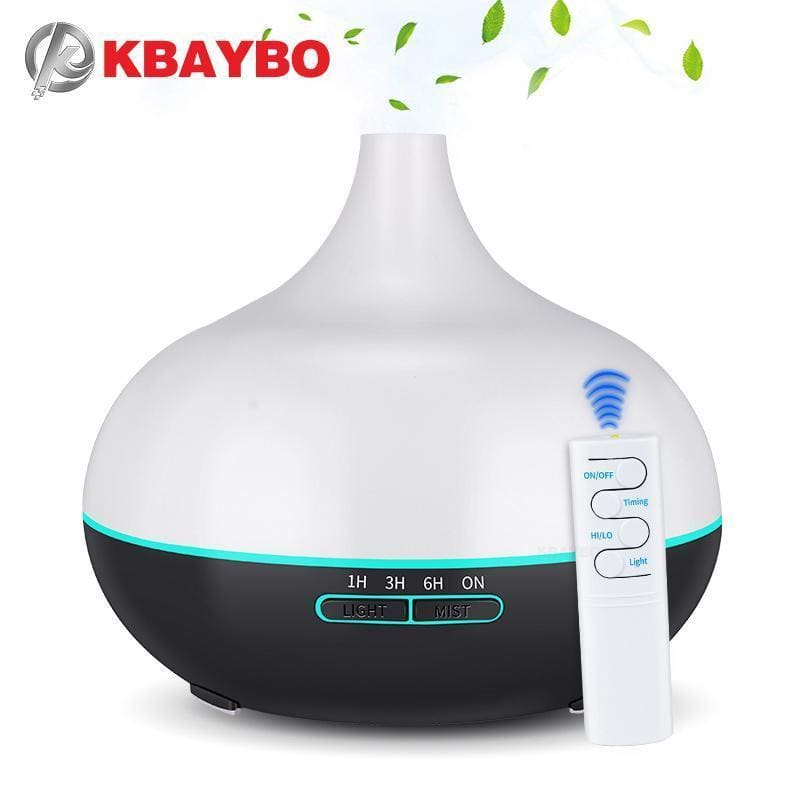 Kbaybo 550ml usb aroma diffuser air humidifier with 7 color changing led lights usb cool mist maker air purifier for office home (black) -