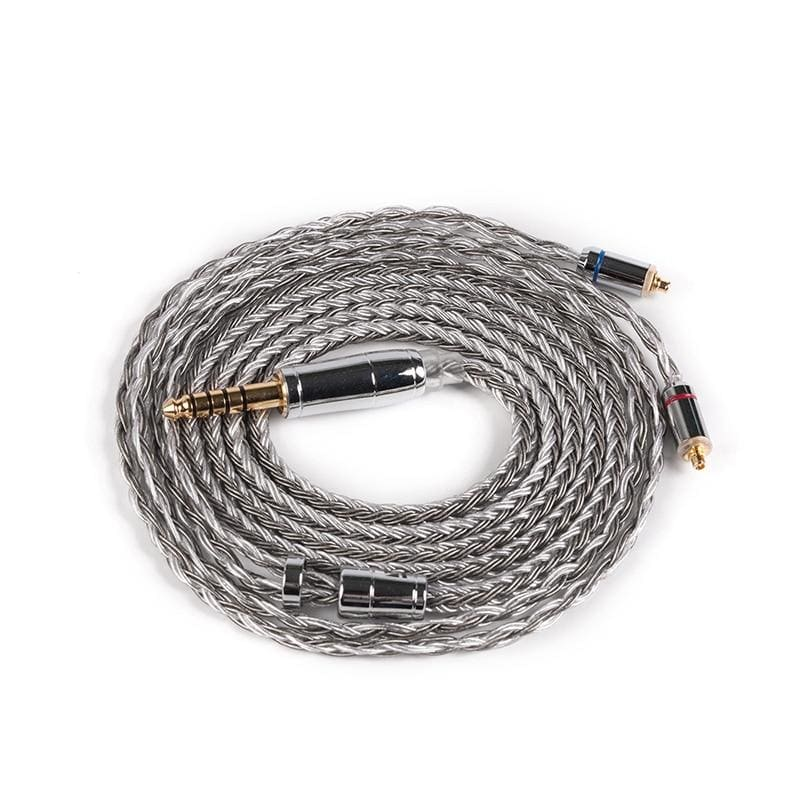 KBEAR 16 Core Silver Plated Balanced Cable 2.5/3.5/4.4MM With MMCX/2pin/QDC Connector For ZS10 Pro AS10 ZSX ZSN C12 BL-03