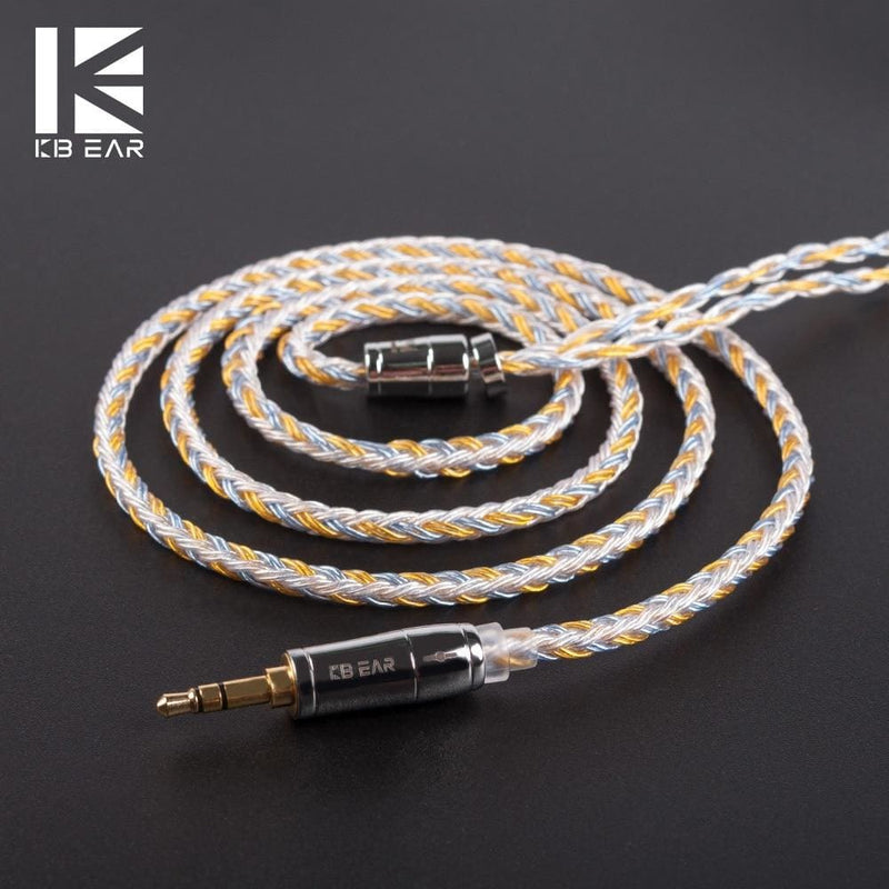 KBEAR 16 Core Upgraded Silver Plated Copper Cable 2.5/3.5/4.4MM With MMCX/2pin/QDC TFZ Connector For KZ ZS10 ZSN Pro AS16 ZSX