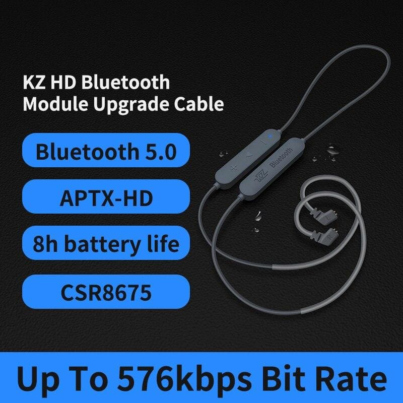 KZ Aptx HD CSR8675 MMCX Bluetooth Module Earphone 5.0 Wireless Upgrade Cable Applies Headphones AS10ZSTZSNProZS10Pro/AS16/ZSX