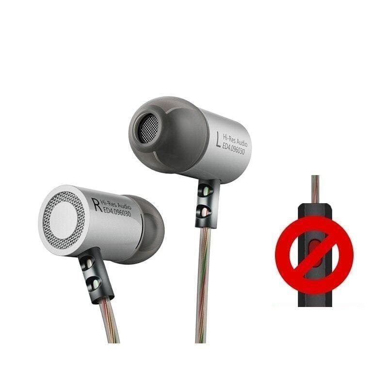 Kz ed4 metal stereo earphone noise isolating in-ear music earbuds with microphone for mobile phone mp3 mp4 - on sale