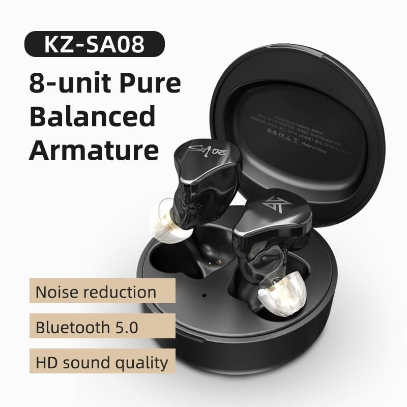 KZ SA08 TWS True Wireless Bluetooth v5.0 Earphones Gaming Earbuds Touch Control Noise Cancelling