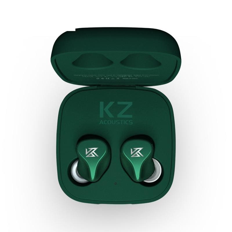Kz z1 tws true wireless bluetooth v5.0 earphones dual magnetic dynamic game earbuds touch control noise cancelling sport headset - on sale