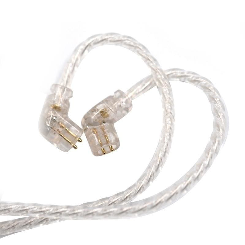 KZ ZSN Headphones Silver plated upgrade cable 2PIN gold-plated pin 0.75mm high purity oxygen free copper Earphone Cable wire