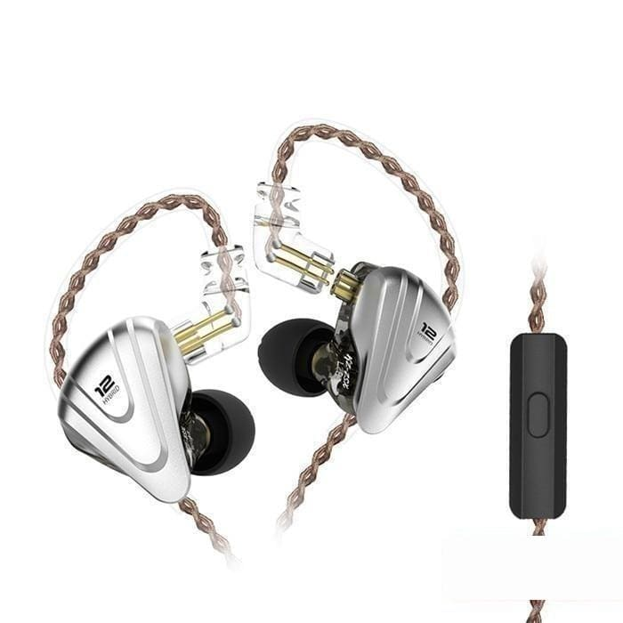 Kz zsx terminator metal headset 5ba+1dd hybrid 12 drivers hifi bass earbuds in ear monitor headphones noise cancelling earphones - ₹4,499