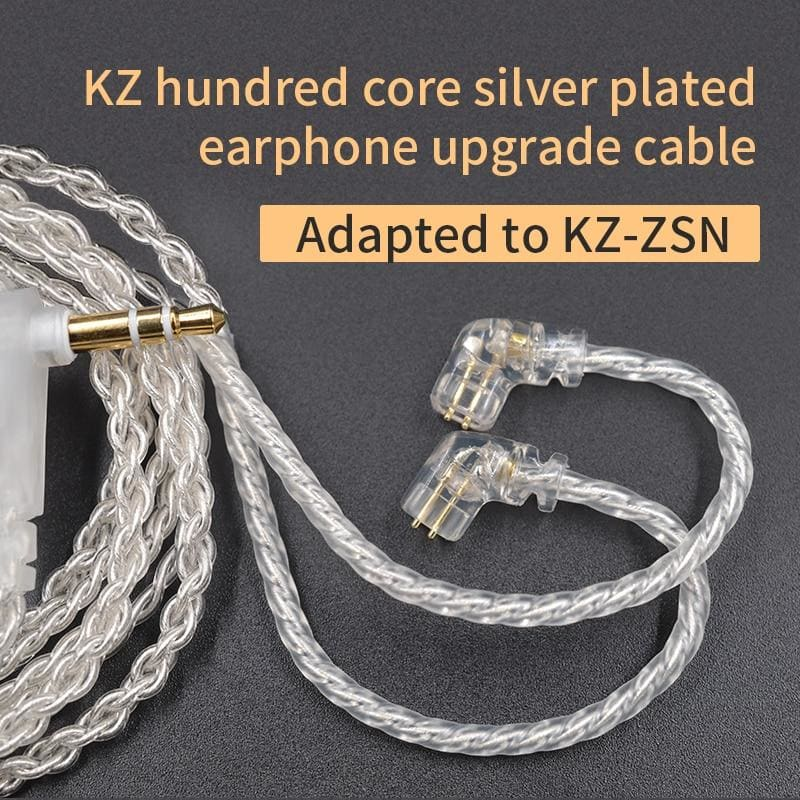KZ ZSX/ZSN Pro/ZS10 Pro/AS16 Headphones Silver plated upgrade cable 2PIN pin 0.75mm high purity oxygen free copper Earphone wire