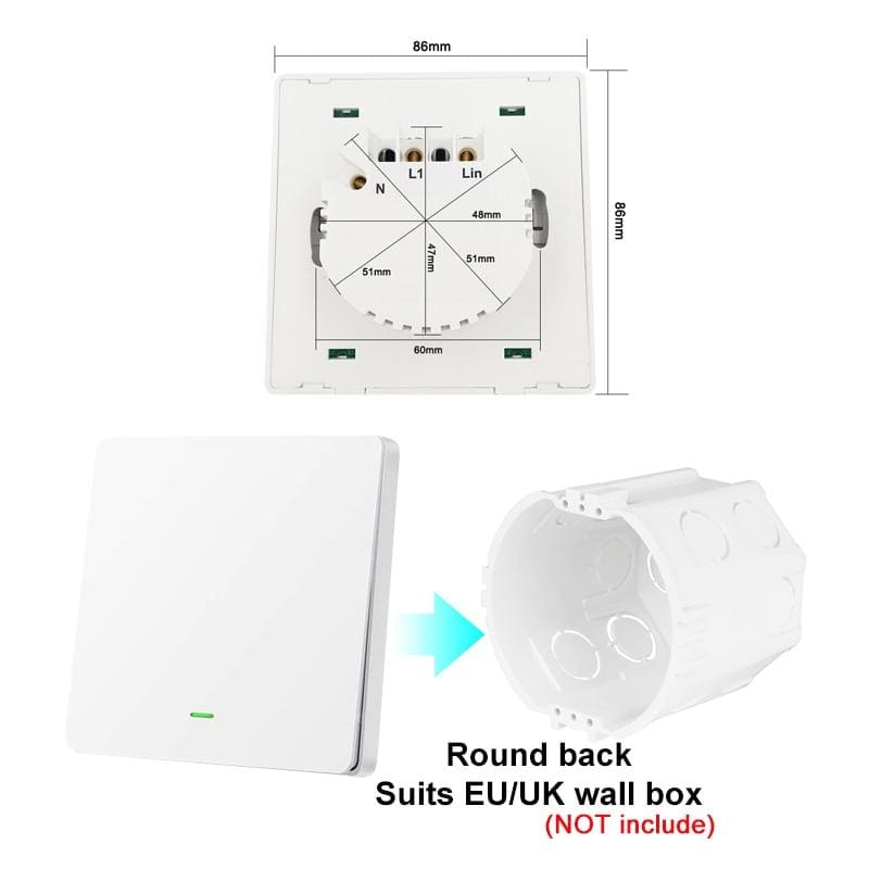 Lonsonho Tuya Zigbee Smart Switch With Neutral EU UK 220V Wireless Button Wall Light Switches Alexa Google Home Assistant